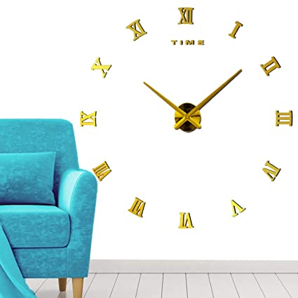 DIY Clock - Wall Clock KIT - The Perfect Treat Yourself with Adhesive Frame Less Clock
