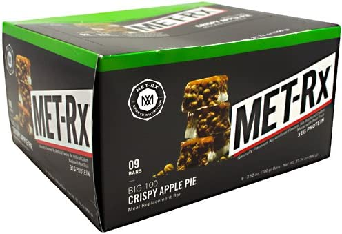 MET-Rx Big 100 Colossal – Crispy Apple Pie – Box of 9 – 3.52 oz 100g bars