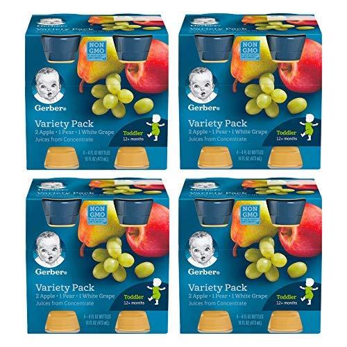 Gerber Variety Pack Fruit Juice (4-CT, Pack of 4)
