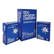 #LightningDeal Kids Against Maturity: Card Game for Kids and Families, Super Fun Hilarious for Family Party Game Night, Combo Pack with Expansion #1 and #2