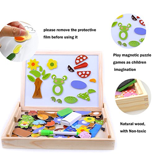 Wondertoys Magnetic Puzzle Art Easel Board Games with Dry Erase Educational Toys for Children by Wondertoys (Image #4)