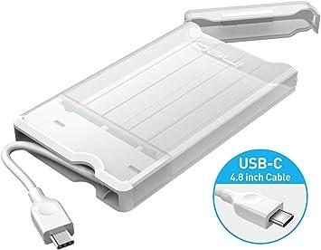 ineo Carcasa USB C 3.1 Gen 2 Type-C Caja Discos Duros 2,5