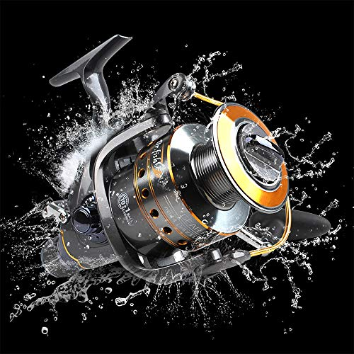 Dr.Fish Hercules-II Baitfeeder Spinning Reel 26Lb Max Drag Saltwater Freshwater Fishing 5.1:1 4000 Spare Spool 11 Stainless Ball Bearings High Power Front and Rear Drag ()