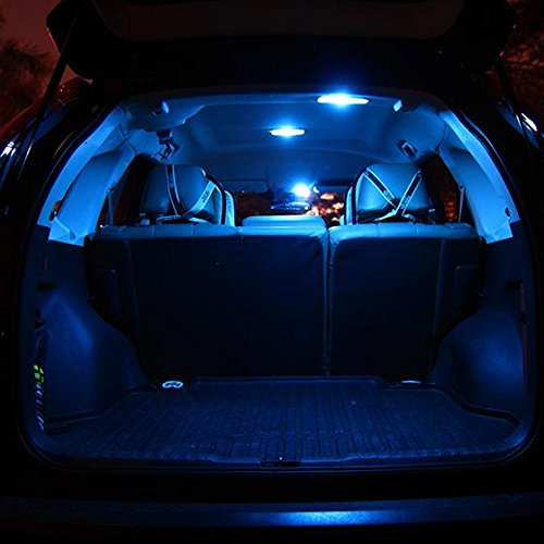 10x Blue Interior Led Lights Replacement Package Kit Fit: Partsam 2014-2016 Mazda 6 Ice Blue Interior LED Package