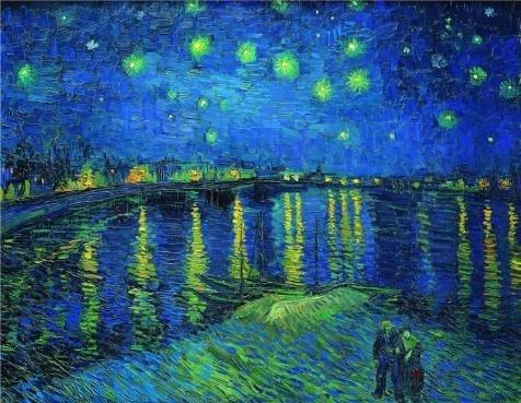 の高品質ポリエステルキャンバス地の油絵Starry Night Over the Rhone、c.1888」、サイズ30 x 39インチ/ 76 x 98 cm、このVividアート装飾プリントキャンバスは、フィットの保育園装飾、ホームとギフト B00YL6KYNC