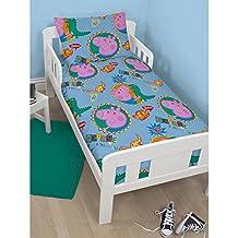 Peppa Pig Official Childrens/Kids George Roar Junior Bedding Set (Junior Bed) (Blue)