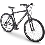 27.5' Royce Union RMT Mens 21-Speed All-Terrain Mountain Bike, 18' Aluminum Frame, Twist Shift, Matte Black