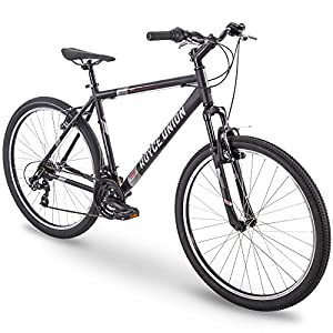 27.5″ Royce Union RMT Mens 21-Speed All-Terrain Mountain Bike, 18″ Aluminum Frame, Twist Shift, Matte Black
