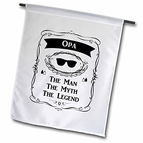 InspirationzStore The Man The Myth The Legend - Opa The Man The Myth The Legend funny - word for grandpa in German - 12 x 18 inch Garden Flag - In Sunglasses German