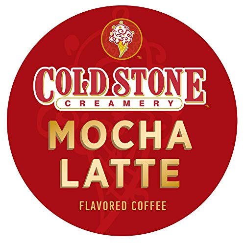 (Cold Stone Creamery Single Serve Coffee in Recyclable Cups for all K Cup Brewers, including the Keurig 2.0 Brewer (Mocha Latte, 24))