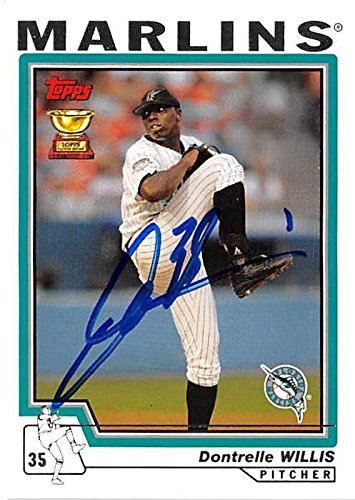 19385fbeca2 Dontrelle Willis autographed baseball card (Florida Marlins) 2004 ...