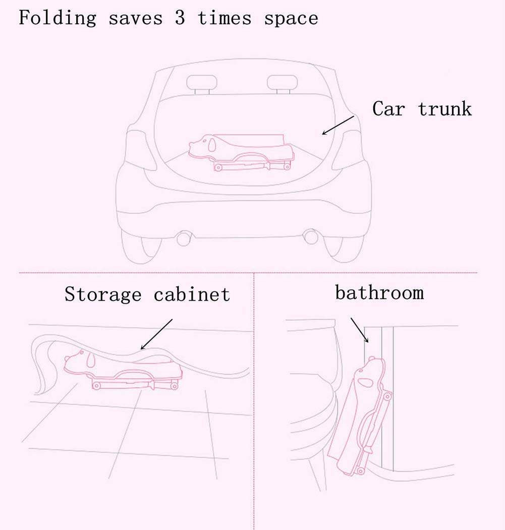 Children Safe Portable Foldable Bathtub, 29x21inch - Baby Bath Tub Kids Bath Tub Can Sit Lying Bath Tub for 6 Months to 10 Years Old Children (Pink) by Finebaby (Image #9)