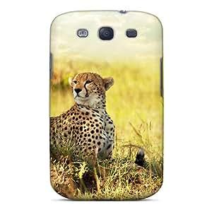 SKTrahan Case Cover Protector Specially Made For Galaxy S3 Cheetah Savanna Africa