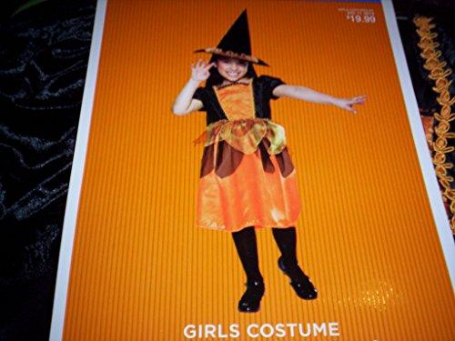 Dlx Childrens Costumes (October Witch Dlx Orange Costume Girls NWT Medium 6-8)