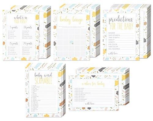 Best Paper Greetings Baby Shower Games Set of 5 50 each