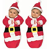 Baby Sdoo,Newborn Infant Baby Boys Girls Pajamas Christmas XMAS Swaddle Sleeping Bag+Hat (red, 80)