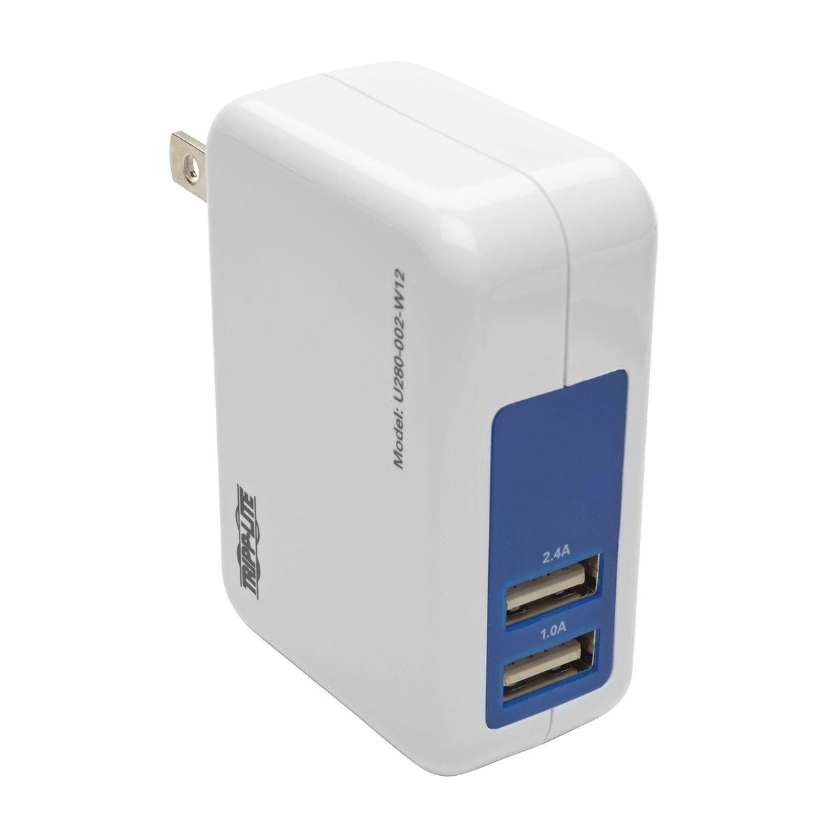 amazon com tripp lite dual port usb wall travel charger for rh amazon com
