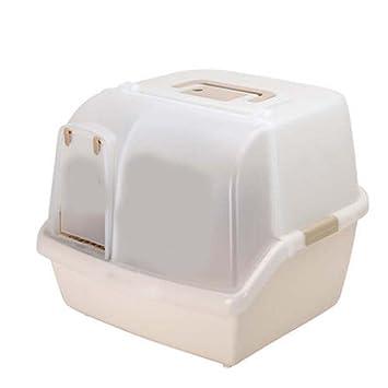 DSHBB Caja de Arena para Gatos, Caja de Inodoro para Bandeja de Arena para Gatos, ...