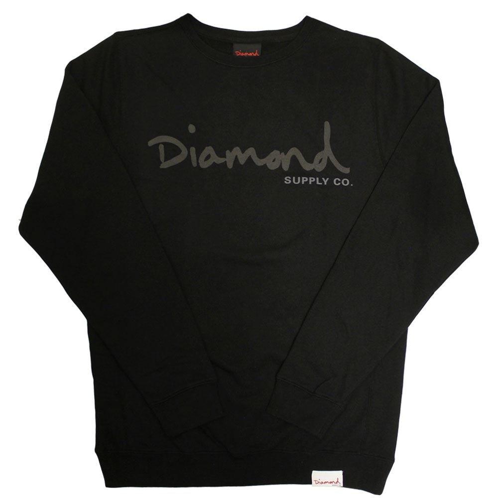 Diamond Supply Co. Tonal OG Script Sweatshirt schwarz