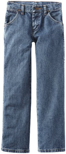 - Wrangler Boys' Cowboy Cut Relaxed Fit Jean, Subtle Worn, 10 Slim