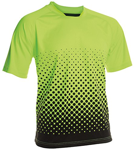 Vizari Adult Ventura GK Short Sleeve Jersey, X-Large, Neon Green/Black
