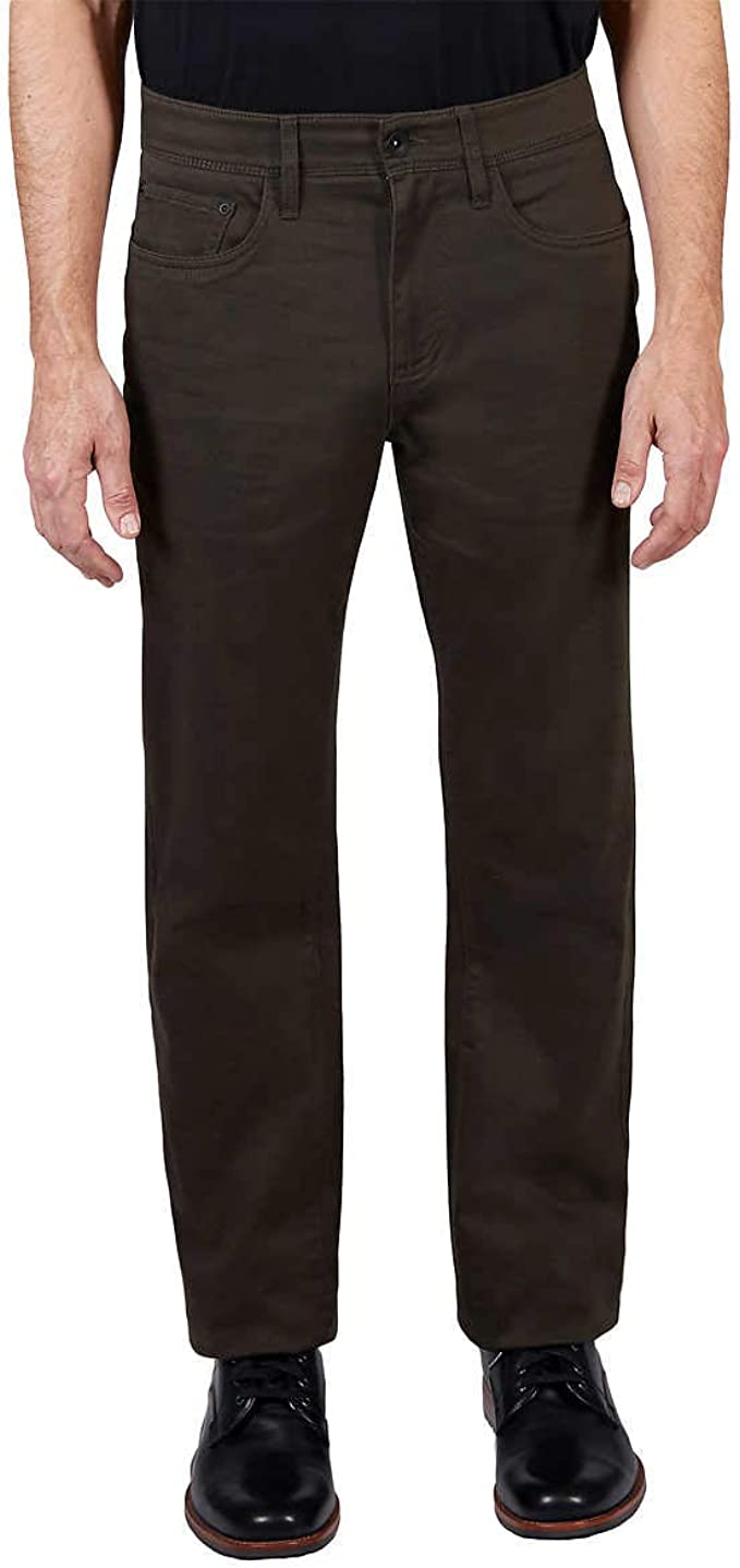 NEW Men/'s Weatherproof Classic 5 Pocket Straight Leg Pants Size 40 x 30 Black