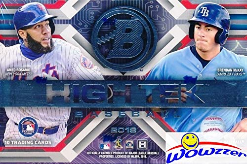 2018 Bowman High Tek Baseball Factory Sealed HOBBY Box with FOUR(4)On-Card AUTOGRAPH Cards! Look for Autographs of Vladimir Guerrero Jr, Shohei Ohtani,Ronald Acuna,Gleyber Torres & Many More! WOWZZER