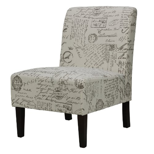 Cortesi Home CH-AC520934 Chicco Armless Accent Chair, French Print