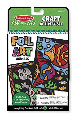 Melissa & Doug On the Go Foil Art Craft Activity Set - Animals
