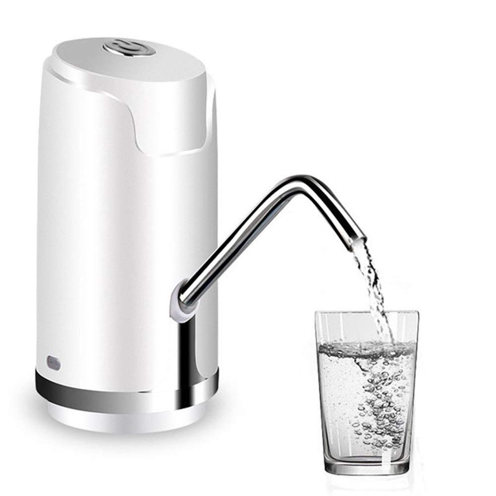 Lucy Day Hot Tod-Wireless Electric Water Pump Bottled Water Rechargeable Mini Water Dispenser for Drinking Water Bottles Quantitative (Color : White)