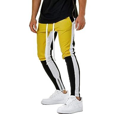 15a1378fbc Hibote Pantalones para Hombre Jogging Fitness Deportivos Pantalón de Chándal  Slim Stretch Casuales Largos Jogger Pantalones de fútbol para Gimnasio  M-3XL  ...