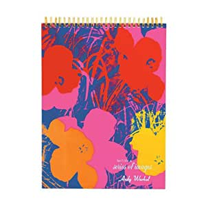 Mudpuppy - Andy Warhol, cuaderno de bocetos con flores (MPAW39712) (Sketchbook)