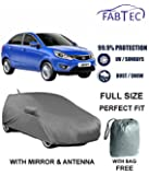 Autowheel AW-MIRROR-BODYCOVER-ZEST Best Seller Premium Heavy Duty Car Body Cover With Pockets For Tata Zest (Dark Grey)