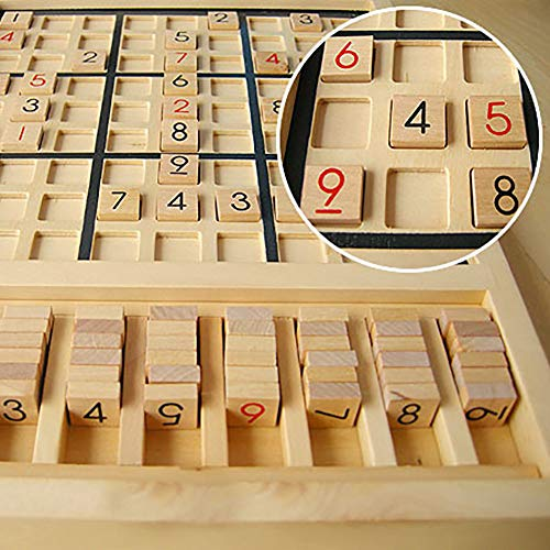 eroute66 Wooden Sudoku Chess Digits 1 to 9 Desktop Games Adult Kids Puzzle Education Toys by eroute66 (Image #4)