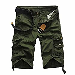 Mo Good Men's Casual Fashion Loose Cargo Boutique Shorts (38, army)