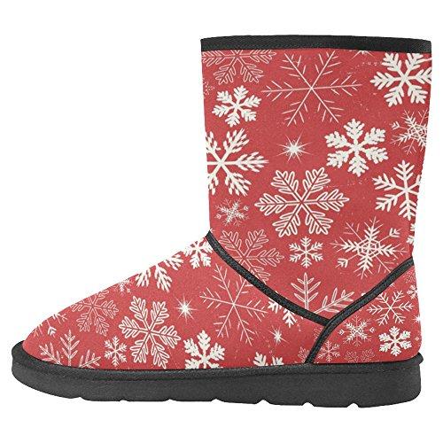 InterestPrint Womens Snow Boots Unique Designed Comfort Winter Boots Multi 27 hqKVZ