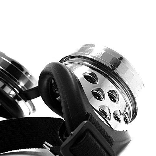 GloFX Chrome Padded Kaleidoscope Goggles Bug Eye Lens - Silver Frame - Rave by GloFX (Image #1)