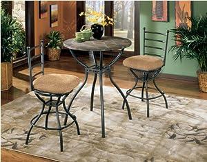 Antigo Pub Table W/ Fixed Slate Top By Ashley Furniture