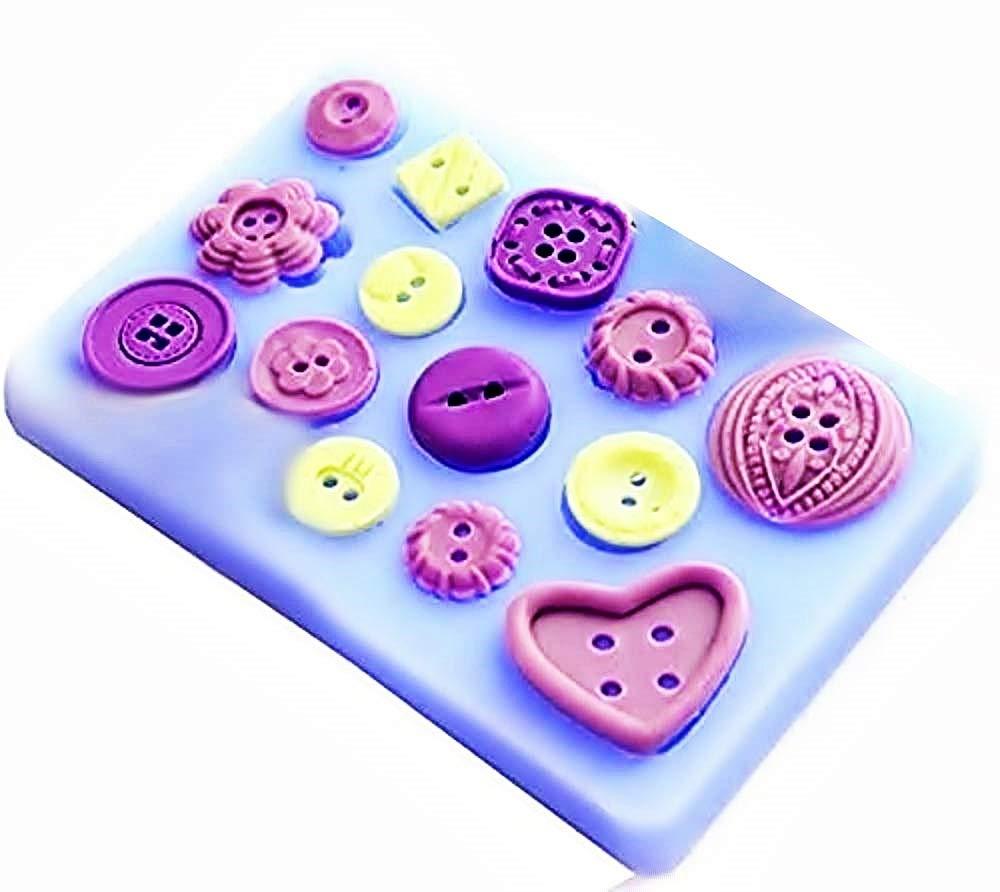 Calchi in Silicone Stampo Silicone Bottoni Stampino per Uso Artigianale Bottoncini Idea Regalo Natale e Compleanno