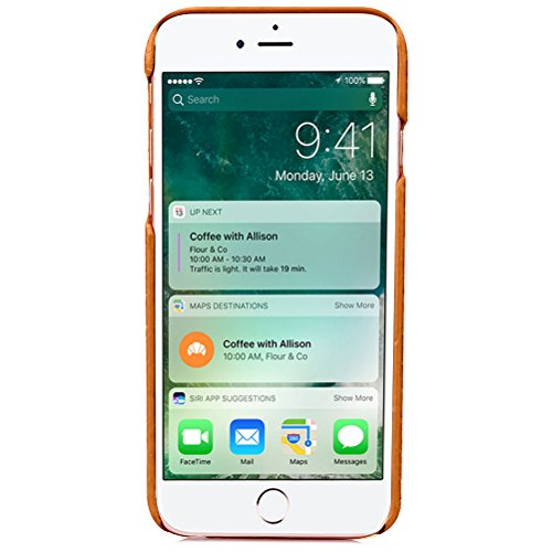 iPhone 8 Plus Funda piel PU Case Cover Carcasa Tapa trasera piel vegana premium con cartera para Apple iPhone 8 Plus original - Ultrafina con bolsillo tarjetero. D