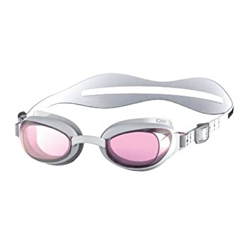 128cbbd5fb Speedo Women s Aquapure Female Mirror Goggles - White Pink  Amazon ...