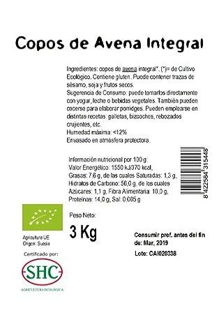 Ecocesta Copos de Avena Integral - 3000 gr: Amazon.es: Alimentación y bebidas