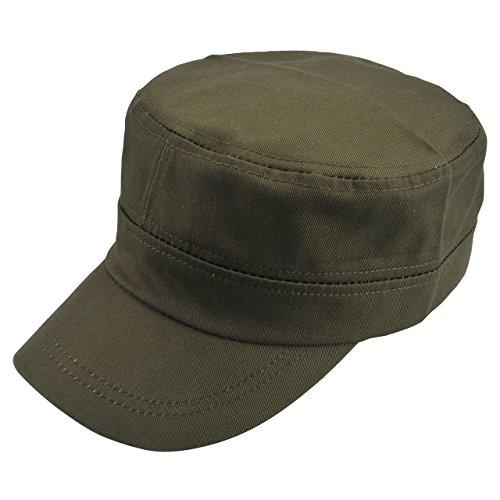 Faleto Military Style Flat Top Cap Adjustable Baseball Cap Snapback Plain Hats For Men Women (Army)