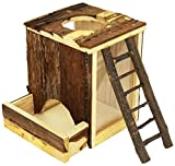 Trixie Pet Products Natural Wood Digging Tower for Mice 9 x 6 x 8 Inch