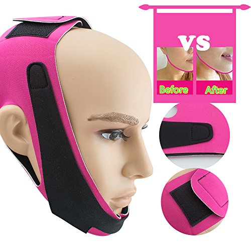 Funwill V Face Line Mask, Thin Face Bandage Face Slimmer Get Rid of Double Chin Create V-Line Face Shapes Chin Cheek Lift Up Anti-Wrinkle Lifting Belt Face Massage Tool for Women and Girls