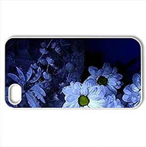lintao diy Beautiful decoration - Case Cover for iPhone 4 and 4s (Flowers Series, Watercolor style, White)