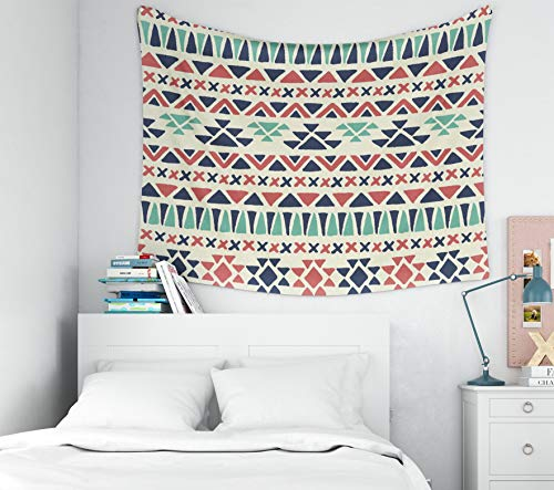 (ROOLAYS Easter Home Art Decor Wall Hanging Tapestry Ethnic Pattern Geometric Background Fabric Modern Abstract Navajo Wallpaper with 80x60 Inches for Living Room Dorm Background Tapestries)
