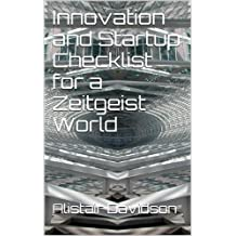 Innovation and Startup Checklist for a Zeitgeist World