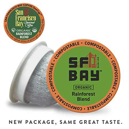 SF Bay Coffee Organic Rainforest Blend 80 Ct Medium Roast Compostable Coffee Pods, K Cup Compatible including Keurig 2.0 (Packaging May Vary) from SAN FRANCISCO BAY