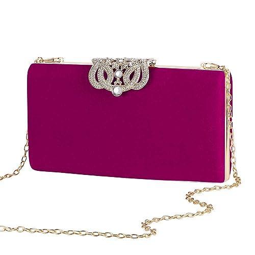 9e8f5d9ccf16 Meeto Crystal Diamante Clutch Bag, Womens Fashion Designer Evening Bag  Ladies Bridal Wedding Party Purse Handbag (Pink): Handbags: Amazon.com